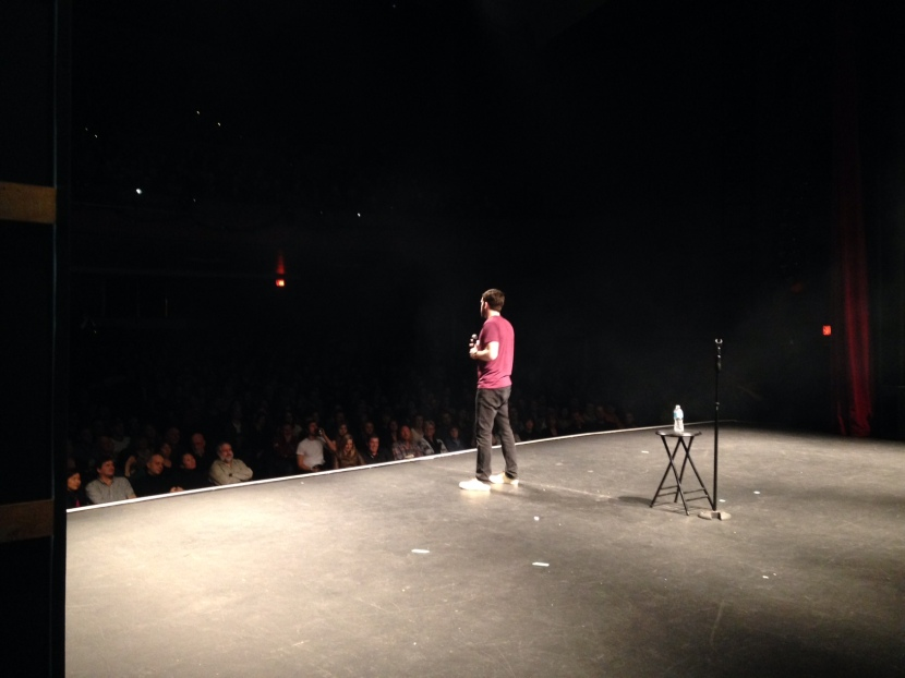 Me. In front of 1200 people. Yep.